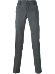 Dondup Tailored Slim Fit Trousers Grey