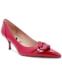 Nina Originals Prezley Detailed Kitten Heel Pumps Women's Shoes Red