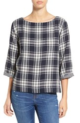 Madewell Women's 'Bedford' Plaid Boxy Tee Ink