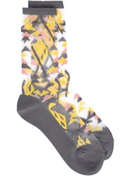 Issey Miyake Cauliflower Sheer Triangle Socks Grey