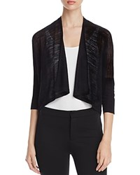 Eileen Fisher Three Quarter Dolman Sleeve Cardigan Black