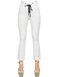 Just Cavalli Stretch Cotton Denim Lace Up Jeans