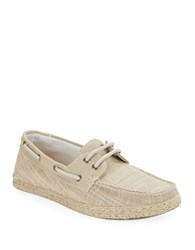 Gbx Dore Two Eye Checked Boat Shoes Taupe
