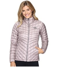 The North Face Thermoball Full Zip Jacket Quail Grey Women's Coat Pink