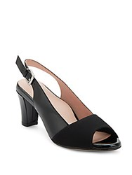Taryn Rose Fortula Patent Leather Slingback Pumps Black Ps