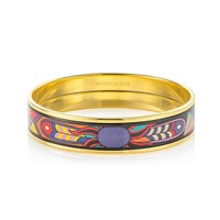 Patricia Rox Ring Master Hand Painted Enamel Bracelet 18K Gold Plated