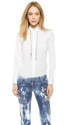 Dsquared Jardin Tux Shirt White