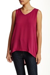 14Th And Union Woven Tank Red
