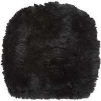 Barneys New York Women's Fur Slouchy Beanie Black Blue Black Blue