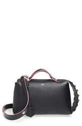Fendi 'By The Way' Studded Tail Tricolor Leather Shoulder Bag