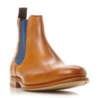 Barker Hopper Colour Pop Leather Chelsea Boots Tan