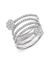 Bloomingdale's Diamond Spiral Ring In 14K White Gold 1.25 Ct. T.W.