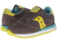 Saucony Jazz Original Charcoal Lime Women's Classic Shoes Green