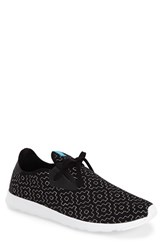Men's Native Shoes 'Apollo' Sneaker Jiffy Black White Cross