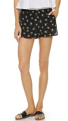 Madewell Dolphin Palm Print Shorts Classic Black