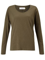 John Lewis Collection Weekend By Drop Sleeve Top Khaki
