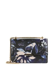 Ivanka Trump Mara Floral Leather Convertible Crossbody Black