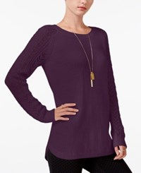 Maison Jules Pointelle Sweater Only At Macy's Vintage Wine