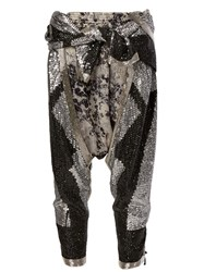 Faith Connexion Sequin Embellished Harem Pants Grey