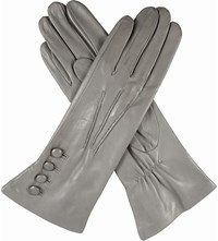 Dents Silk Lined Leather Gloves Charcoal