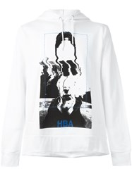 Hood By Air Abstract Print Hoodie White