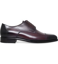 Tom Ford Wessex Leather Derby Shoes Wine