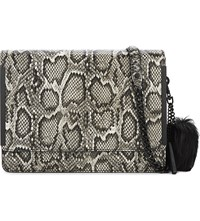 Aldo Laurino Snake Embossed Cross Body Bag Black Miscellaneous