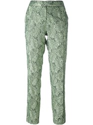 Christian Pellizzari Jacquard Trousers Green