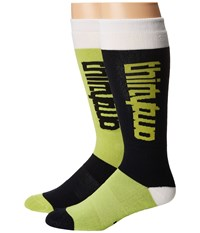 Thirtytwo Color Blocked Sock Lime Men's Crew Cut Socks Shoes Green