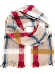 Forte Forte Oversize Checked Scarf Red