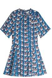Paul And Joe Sister Cat Print Dress Blue