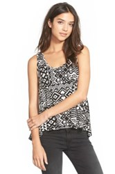 Painted Threads Print Swing Tank Juniors Black