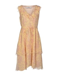 Valentino Roma Short Dresses Light Yellow