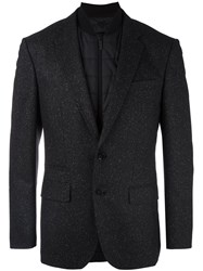 Hugo Boss Quilted Inset Blazer Black