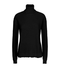 Valentino Ribbed Turtleneck Sweater Female White