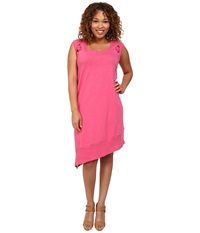 Dkny Plus Size Embroidered Eyelet Dress Azalea Women's Dress Pink