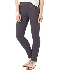 Phase Eight Victoria Zip Skinny Jeans In Charcoal