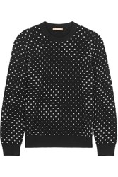 Michael Kors Collection Studded Cashmere Sweater Black