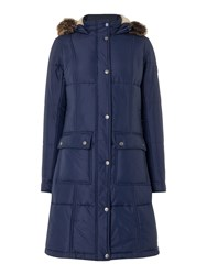 Barbour Icefield Quilt Coat Royal Blue