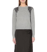 Dries Van Noten Jester Intarsia Knit Jumper Grey
