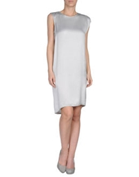 Roberta Furlanetto Short Dresses Light Grey