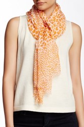 Lava Giraffe Semi Sheer Scarf Orange