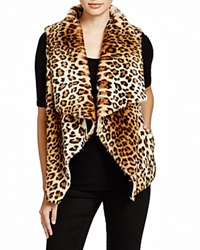 Velvet By Graham And Spencer Faux Fur Leopard Vest