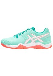 Asics Gelchallenger 10 Clay Outdoor Tennis Shoes Cockatoo White Flash Coral Light Green