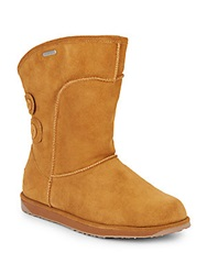 Emu Charlotte Shearling Lined Suede Boots Chestnut