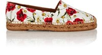 Dolce And Gabbana Women's Floral Brocade Espadrilles White