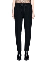 Alexander Wang Chain Trim Cupro Jogging Pants Black