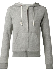 Band Of Outsiders Zipped Hoodie Grey