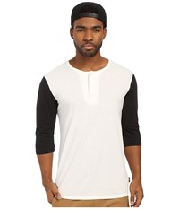 Brixton Adam 3 4 Henley Off White Men's Long Sleeve Pullover