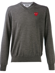 Comme Des Garcons Play Classic Sweatshirt Grey